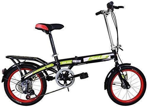 Nologo Fahrrad Kinder Klapprad 16 Zoll Geschwindigkeit Wheeler Erwachsene Männer und Frauen Fahrrad