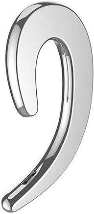 Ear Hook Wireless Earphone, Single Wireless Ear-Hook Bluetooth Headphones Bone Conduction Headphones Earphones, Non Ear Plug Headset with Mic (Black)