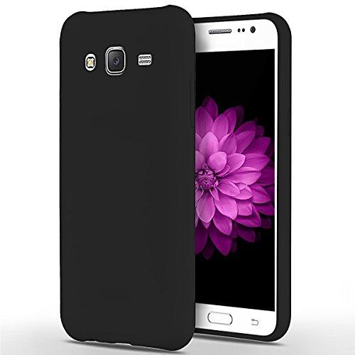 SpiritSun Custodia Samsung Galaxy J5 (2015), Galaxy J500 TPU Silicone Custodia Slim Bumper per Samsung J5 (2015) Case Protezione Case Copertura Cover - Nero