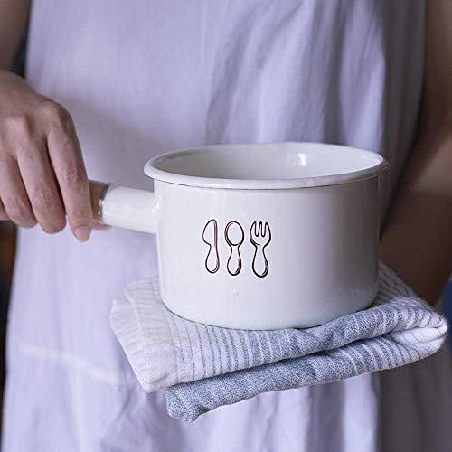 min min Wok Non Stickmilch Pfanne Pan14cm Japanische Email milchkännchen Gekochter Milch