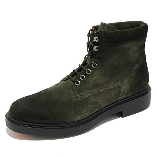Santoni 5252AB Anfibio Uomo Suede Green Shaded Boot Shoe Men [7]