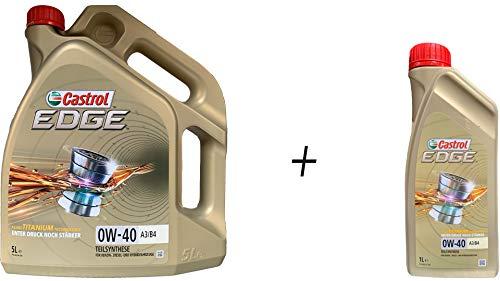 1 L + 5 L = 6 Liter Castrol Edge Fluid Titanium 0W-40 A3/B4 Motoröl
