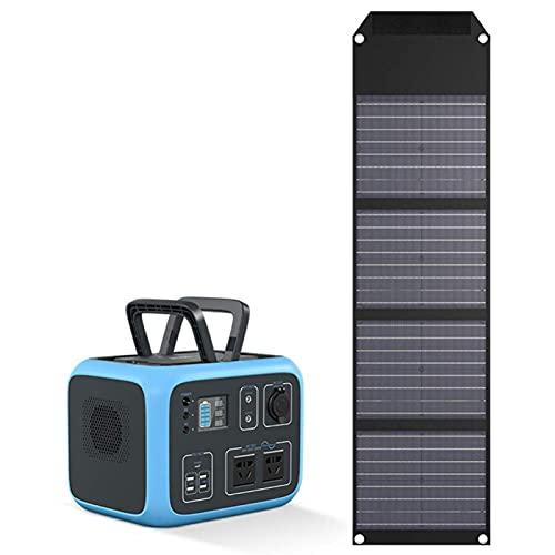 Central eléctrica portátil generador de corriente portátil con paneles solares 500 Wh 135000 mAh Alimentación eléctrica de la central cargada por panel solar / coche/toma de pared para Gen