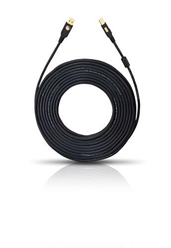 Oehlbach USB A/B - Highspeed USB 2.0-Kabel Typ A zu Typ B - Mantelstromfilter, mehrfach geschirmt - SPOFC, schwarz - 5m