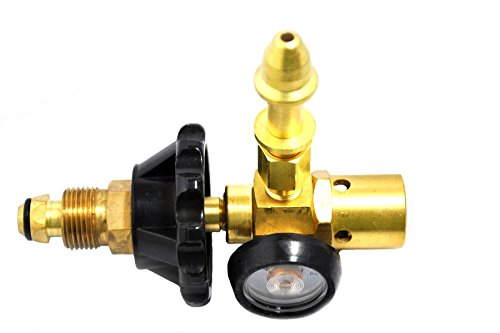 Latex Mylar Balloon Filler Regulator Inflator | Brass Material | Helium Gas Service | 100% Leak Tested | Cylinder Content Gauge | Hand Tight Connection | Low Maintenance | Long Serving Life