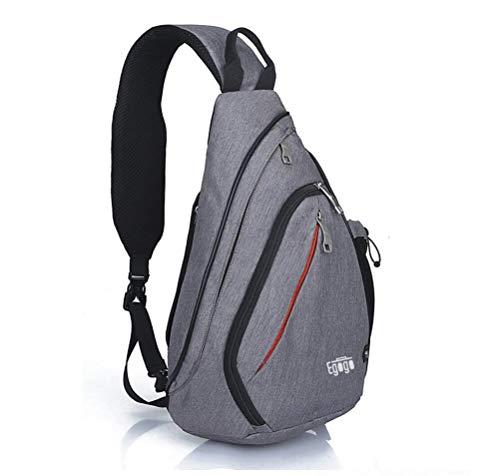 EGOGO Multifunktions Schultertasche Rucksack Crossbody Tasche Sling Tasche Wandern Dackpack ein sollte Schultergurt für Männer und Frauen (Dark Grey)