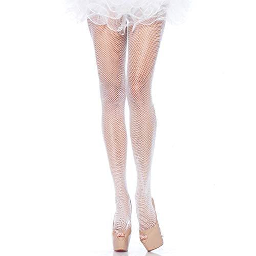 Leg Avenue dames visnet panty Extra grote plus visnet panty Übergröße wit