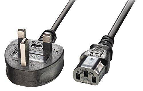 Lindy 1m Kabel mit UK-Stecker auf IEC-C13-Stromkabel–Schwarz (in Deutschen Steckdosen nur mit Adapter nutzbar)