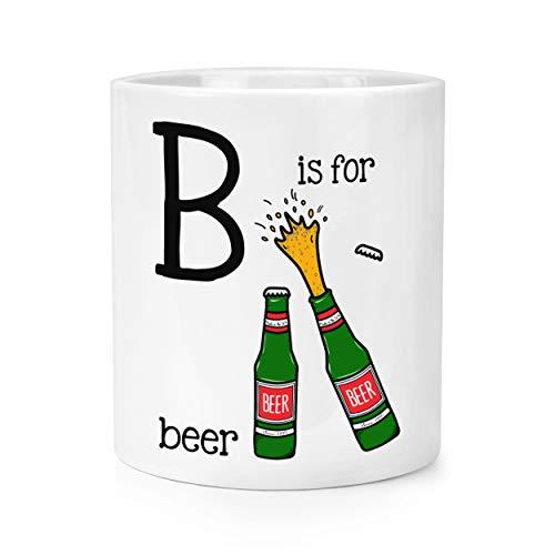Stifteköcher mit Buchstaben B is for Beer