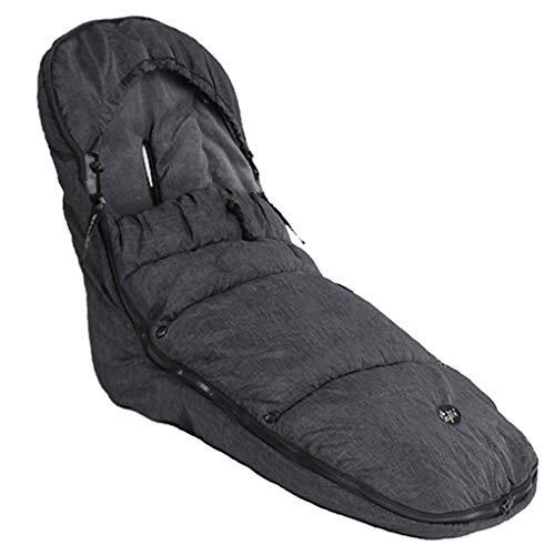 CozyMe Stroller Sleeping Bag-High Performance Universal Stroller Footmuff Sack-Front Piece Adjustable&Removable Bunting Bag- Adaptable for All Kinds Pram Buggy Pushchair-Heather Grey