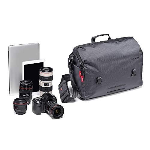 Manfrotto Manhattan Messenger-Tasche Speedy 30, Mehrzweckrucksack, für den Transport von Kamera und Zubehör, aus wasserabweisendem Material, Fotorucksack mit PC- und Tablet-Fach, mit Stativ-Halterung