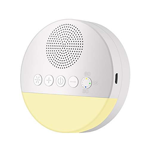 White Noise Machine, Einschlafhilfe für Kinder und Erwachsen Weißes Rauschen Maschine mit 20 Natürlichen Klängen, USB aufladbare/Nachtlicht/Memory-Funktion
