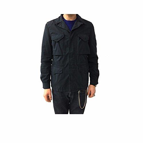 ASPESI Giacca Uomo Blu MOD M43 100% Cotone vestibilità Slim XL-52