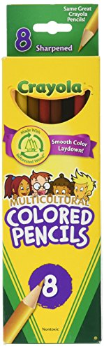 Crayola LLC MULTICULTURAL 8 CT Colored (Set of 6)