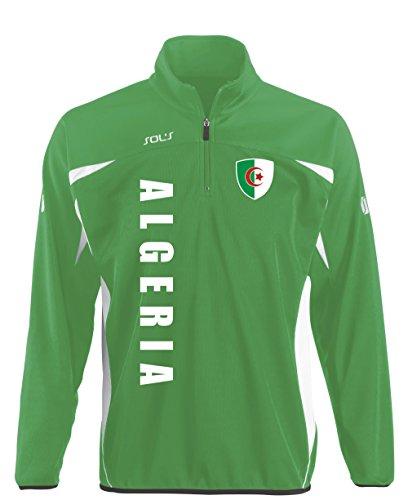 aprom Algerien Kinder Sportpullover - Sport Fussball Trikot Look (152)