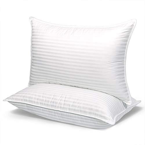 COZSINOOR Cozy Dream Series Kissen zum Schlafen in Hotelqualität, 2 Stück, Premium-Plüschfaser, atmungsaktiv, kühlend, hautfreundlich (Queen-Size)