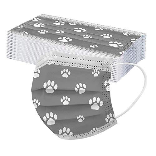 morran Parche de Oreja Elástico Protector para Adultos con Impresión de Patrón de Pata de Cachorro Lindo (5-Colores)