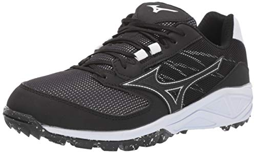 Mizuno Women's Dominant All Surface Turf Shoe, Black/White, 8