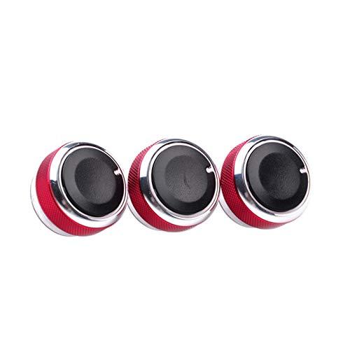 NB YULUBAIHUO 3pcs Dewtreetali/Lot cupo for la Cubierta del Interruptor de Control de Calor Ford Focus Mondeo Aire Acondicionado AC Perilla de Coches en Forma for el Focus Focus 2 3 (Color : Red)