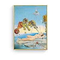 CWSWP 木製パズルジグソーパズル、バラの頭を持つ女性アート画像パズル、サルバドールダリジグソーパズル、アートコレクションの壁の装飾1000個