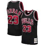 YCQQ Uniforme de Baloncesto para Hombre, Chicago Bulls # 23 Michael Jordan Jersey de Jersey Bulls Masculino Campeón de la NBA Vintage, Chaleco De Gimnasia, Camiseta Deportiva(Size:S,Color:G3)