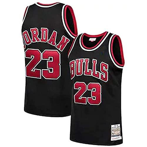 YCQQ Ropa Jersey Men's, Chicago Bulls # 23 Michael Jordan Jersey de Jersey Bulls Masculino Campeón de la NBA Vintage, Chaleco De Gimnasia, Camiseta Deportiva(Size:L,Color:G3)