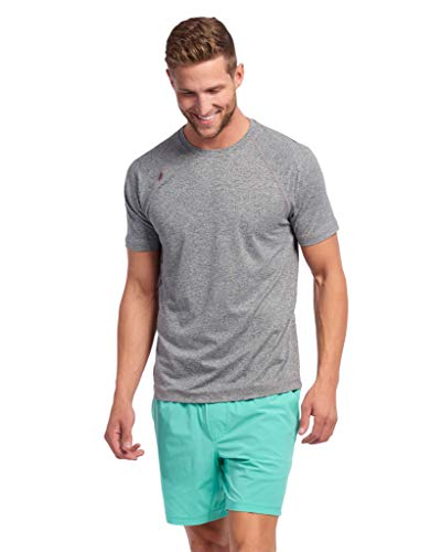 Rhone Reign Short Sleeve Legacy Gray XX-Large, Anti-Odor Moisture Wicking Workout Shirts