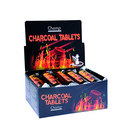 100 Stück Shishakohle 33 mm + gratis Feuerzeug - allaroundprofi24 - Shisha Hookah Wasserpfeife Smoking Kohle Holzkohle schnellzündend