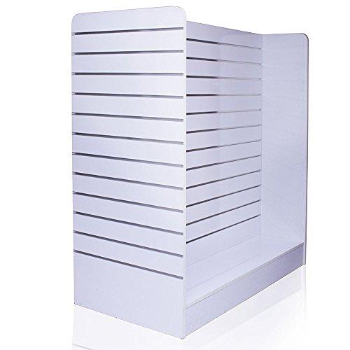 H Lamellenwand plank staan met aluminium rails en 4 rollen Gondel wandplank (150 x 123 x 60 cm) rolbaar