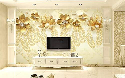 """3D Mozaïek Gouden WG0537 Behang Afdrukken Decal Deco Binnen Muur Muurschildering Zelfklevend Behang AJ WALLPAPER NL Muzi (Vinyl (geen lijm en verwijderbaar), 【164""""x100""""】416x254cm(WxH))"""