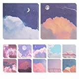 Gukasxi 12 Pieces Oil Painting Sticky Note Pads 3.2 x3.2 Inch Oil Painting Self-Stick Notes Adesive Memo Pads for Reminder Studying School Office Home Spplies, 12 Designs x 30 Sheets