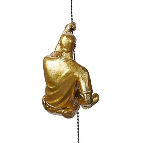 MUZIDP Escultura de personaje de roca personalizable, diseño retro de oro, para colgar en la pared, decoración del hogar, decoración de la estatua para colgar (color: dorado a)