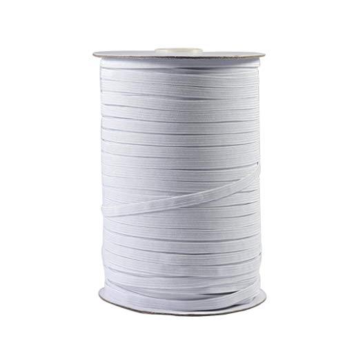 Faplu クラフト製品のゴムバンド, フェイス顔の保護幅弾性コードの弾性バンドは弾性ロープ100m / 10mmWを作ります家庭用自作服縫製丈夫な編みベルトゴムバンド