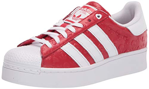 adidas Originals Women's Superstar Bold Shoes Sneaker, Scarlet/Black/White, 7.5