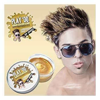 Play 'Do Temporary Hair Color, Hair Wax, Hair Clay, Mens Grooming, Gold hair dye(1.8 ounces)