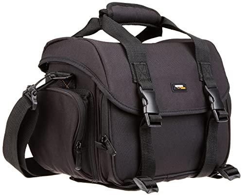 Amazon Basics - Bolsa para cámaras DSLR y accesorios (tamaño grande), negro