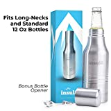 The Original Insul8 Beer Bottle Cooler | Double Wall Insulated Beer Bottle Holder Stainless Steel Fits 12 oz. Standard and Long-Neck...
