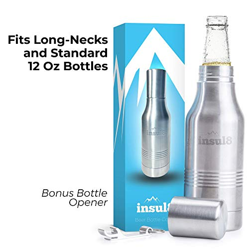 Double Wall Insulated Beer Bottle Holder by Insul8