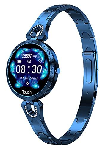 Smartwatch - Pulsera de fitness para mujer y niña, reloj deportivo con pulsómetro, IP67, resistente al agua, podómetro, frecuencia cardíaca, reloj con medición de presión arterial, rastreador de sueño
