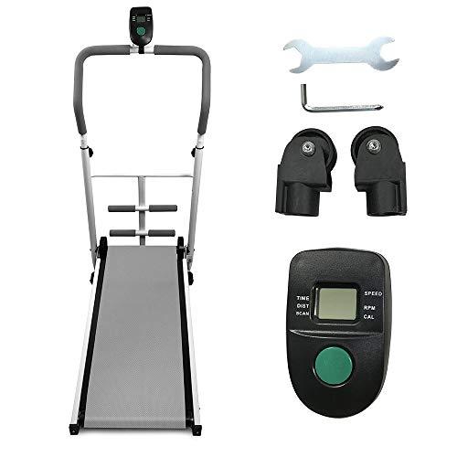YIFAA Tapis de Course Pliable, Tapis de Course de Bureau Sport pour Marche, Jogging et Fitness, 88x43.5x110cm (Gris)