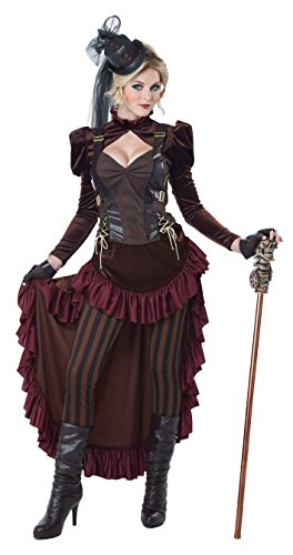 California Costumes Damen Women's Victorian Steampunk, Brown, Large Kostüm für Erwachsene, braun