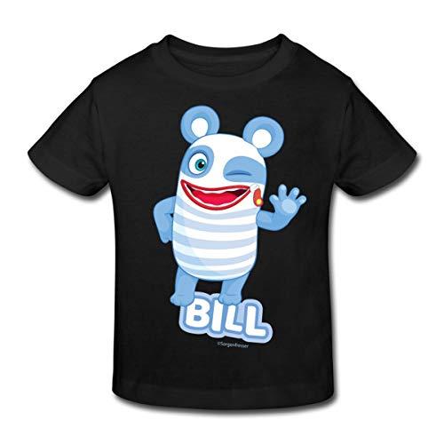 Sorgenfresser Bill Winkt Und Zwinkert Kinder Bio-T-Shirt, 134-140, Schwarz