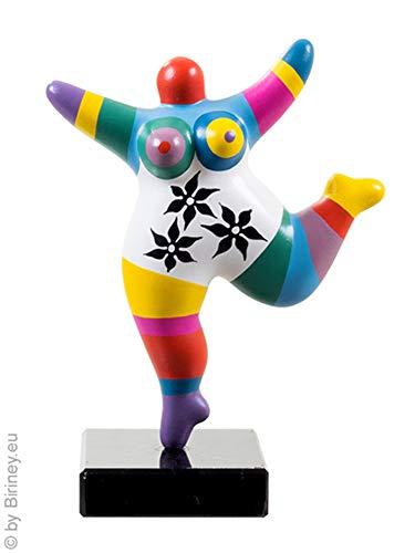 Biriney Nana-Skulptur handgefertigte Nana Figur auf Naturstein-Sockel frei nach Niki de Saint Phalle! Candy