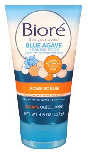 Biore Baking Soda Acne Scrub 4.5 Ounce Tube (133ml) (2 Pack)
