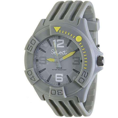 Select Tc-30-24 Reloj Analogico para Niño Caja De Resina Esfera Color Gris