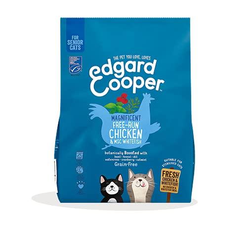Edgard & Cooper Pienso Gatos Seniores Esterilizados o Activos Comida Seca Natural Sin Cereales 1.75kg Pollo y Salmon Frescos, Fácil de digerir, Alimentación Sana y Sabrosa, Proteína 🔥