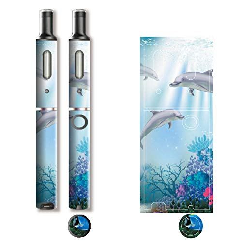 電子たばこ タバコ 煙草 喫煙具 専用スキンシール 対応機種 プルーム テック プラス Ploom TECH+ Ploom Tech Plus イルカ (Dolphin) イメージデザイン 01 イルカ (Dolphin) 01-pt08-0635