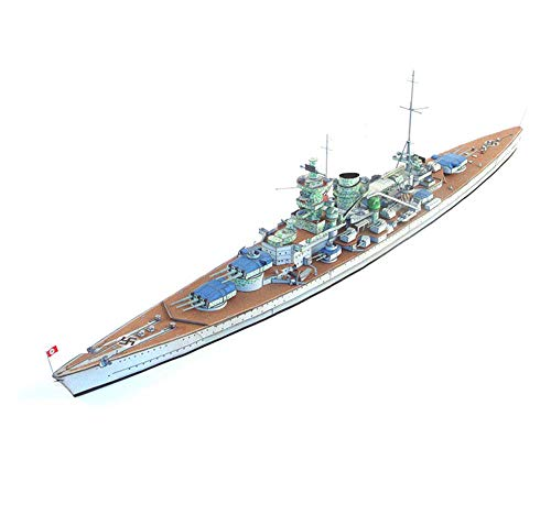 Baibao Military Paper Puzzle Model Toys, 1/400 Scale Kriegsmarine Scharnhorst Battleship Kids Toys And Gifts, 23Inch