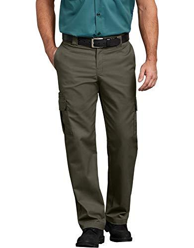 Dickies Men's Regular Straight Stretch Twill Cargo Pant, Moss, 38W x 32L
