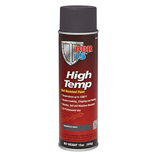 POR-15 44218 Gray High Temperature Paint Manifold - 15 fl. oz.
